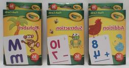 108 Crayola Learning Educational Flash Cards - 36 Cards per