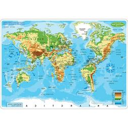 ASHLEY PRODUCTIONS 10PK WORLD MAP LEARN MAT 2 SIDED