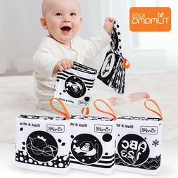 3PCS Baby Cloth Books Early Learning Educational Toys Black