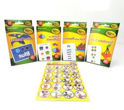 4 Crayola Learning Flash Cards Sets Age 3+, 36 Cards/Pk, + F