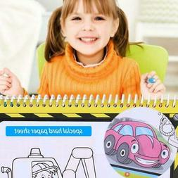 4 Type Kids Baby Painting Magic Water Drawing Book Coloring