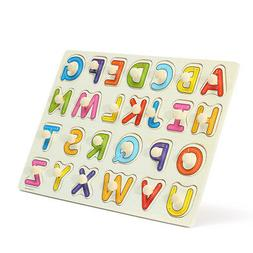 Alphabet ABC Wooden Jigsaw Puzzle Toy Children Kids Learning