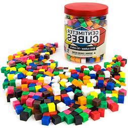 Set of 500 Centimeter Cubes with Storage Container - Mathema