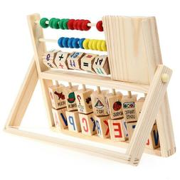 Wooden Children Baby Kids Learning Math Developmental Versat