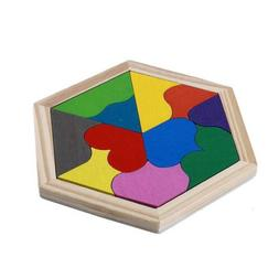 Colorful Wooden Toys Baby Play Junior Tangram Learning Educa
