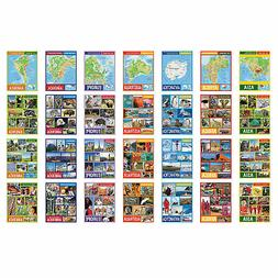 continents learning charts educational 28 pieces