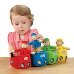 CP Toys Velour Bilingual Play & Learn Monkey Train for Kids