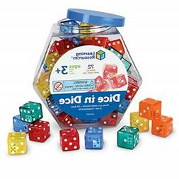 Learning Resources Dice In Dice Bucket, Math Toy, Manipulati