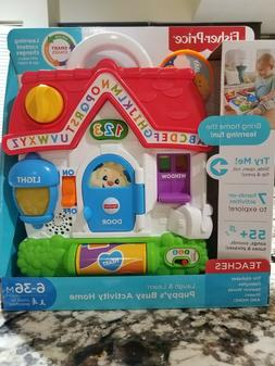 Fisher-Price Laugh and Learn Puppy's Busy Activity Home Baby
