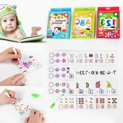 Kids Learning Cards Educational Toy Alphabets Numerical Arit