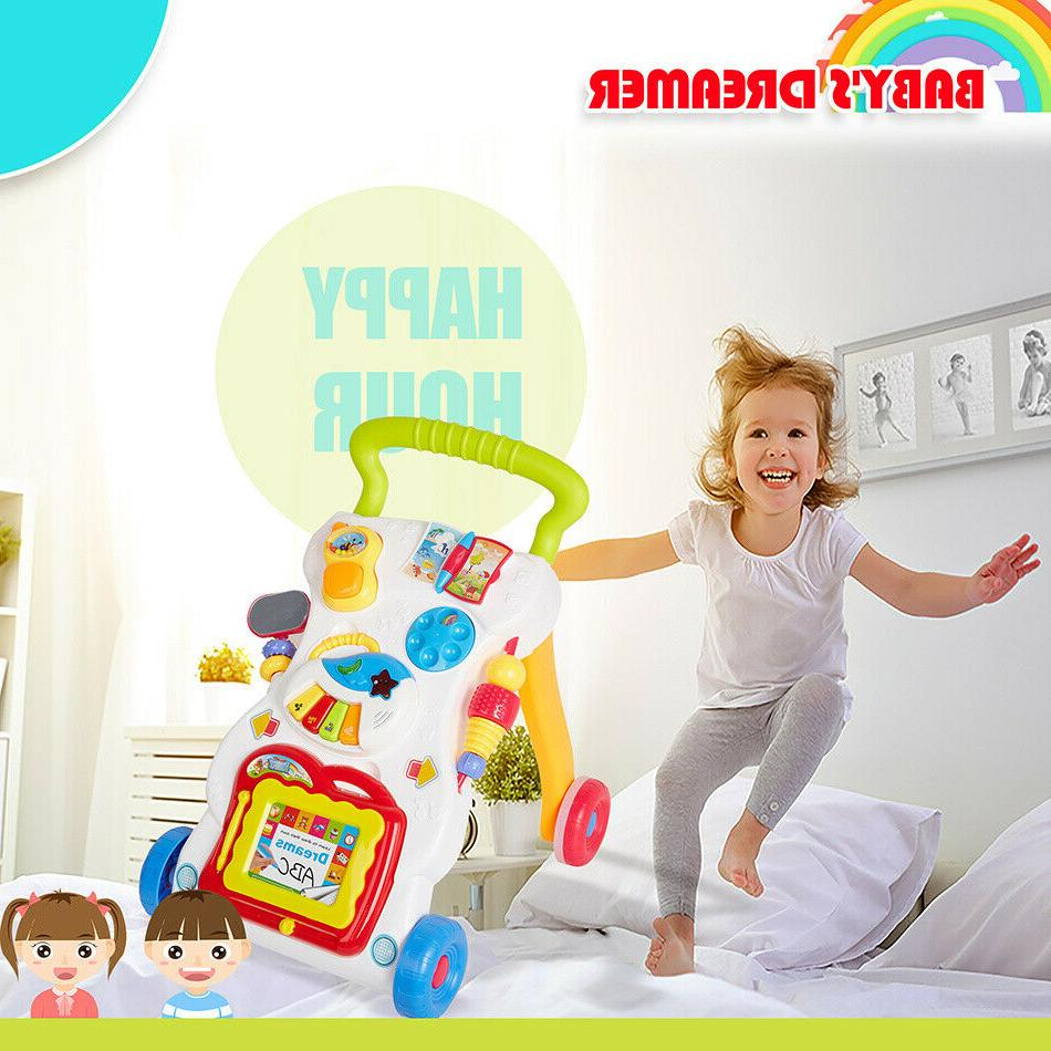 3-in-1 Toy Baby to Stand Interactive Baby Walker Pull Toys