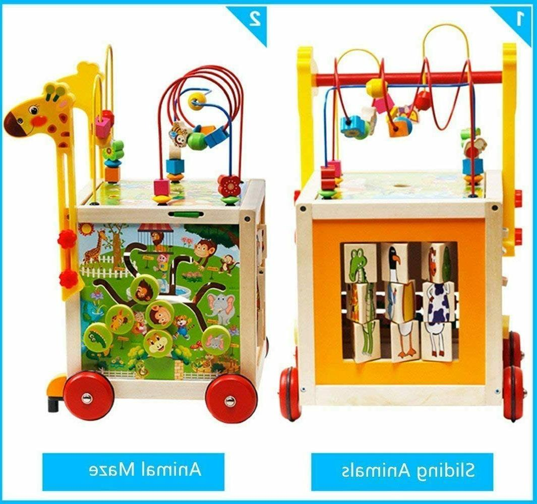 7 in Wooden Toys Kids Toy Bead Cube