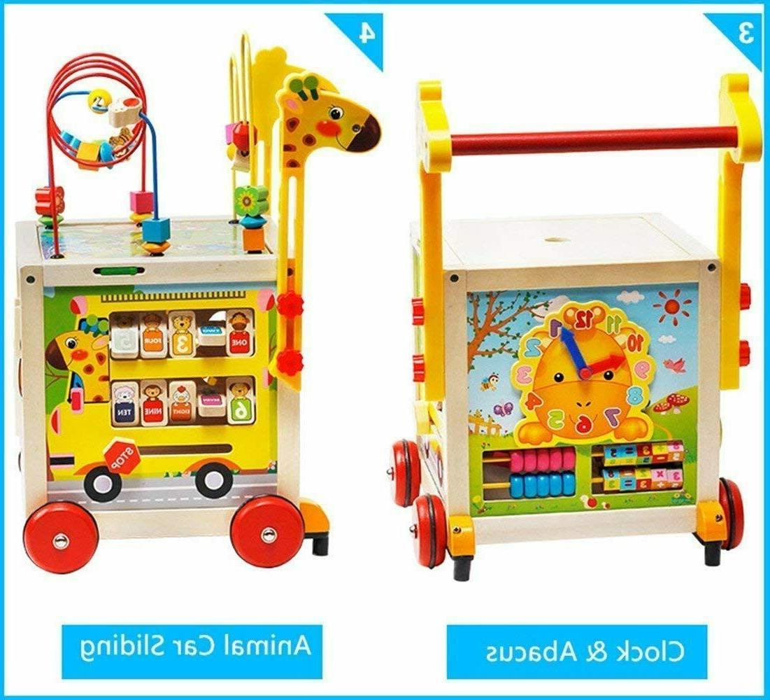 7 1 Wooden Toys Toy Activity Cube Game