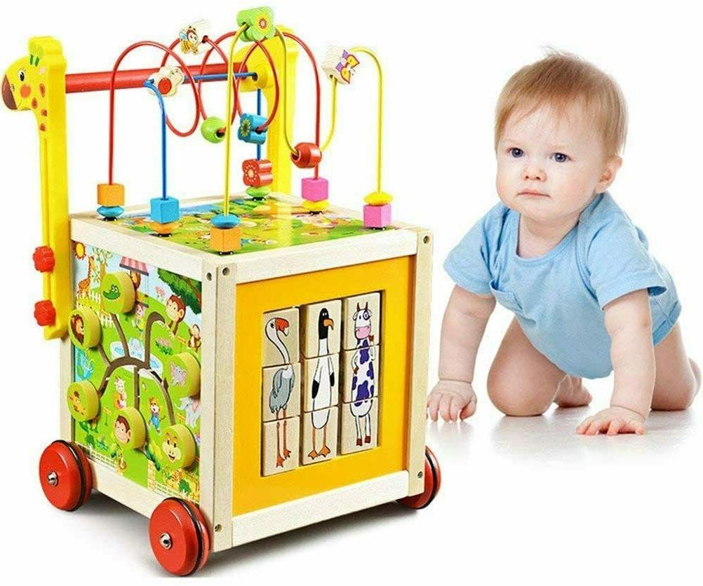 7 in 1 wooden toys kids learning