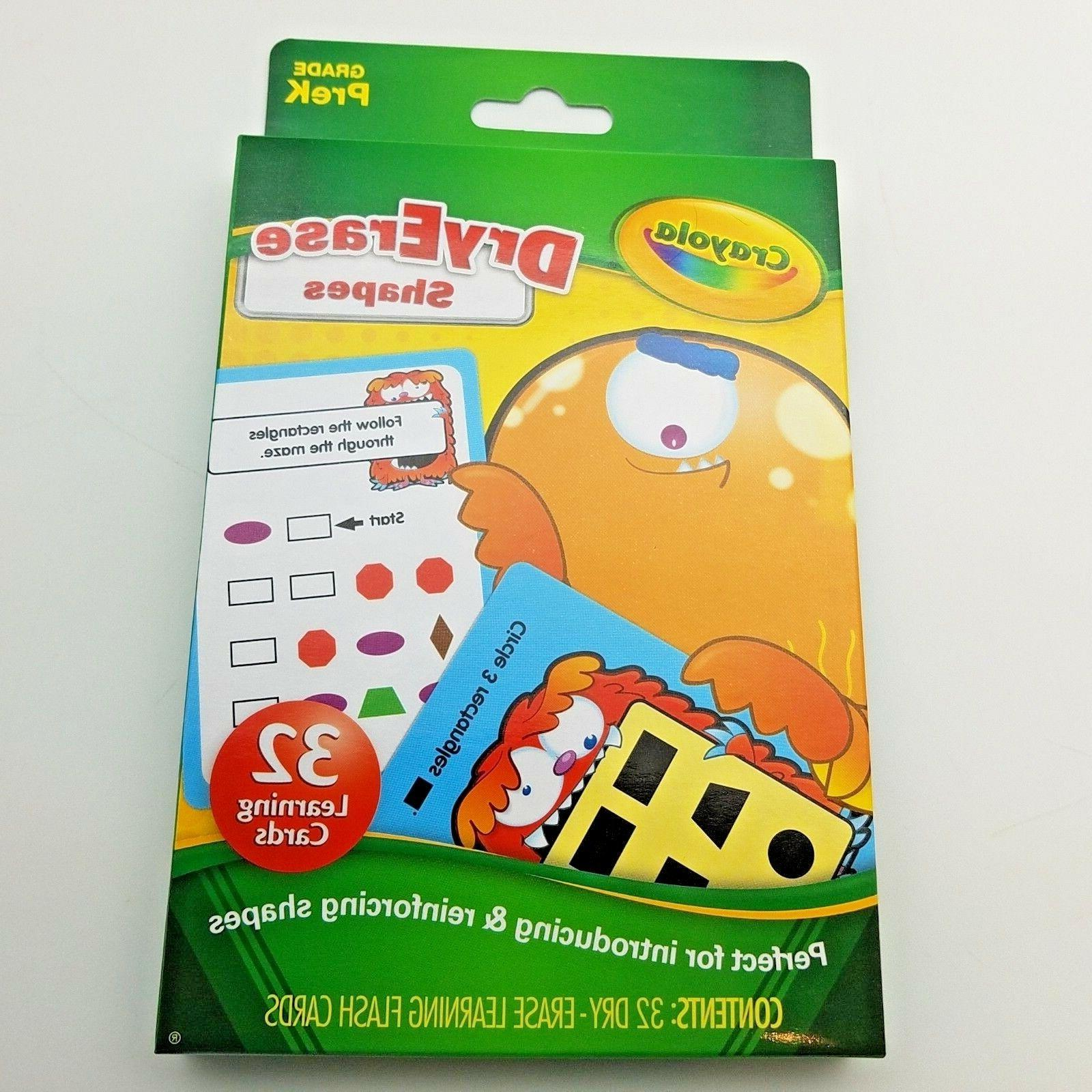 Crayola Dry-Erase Cards Colors & Shapes for NEW
