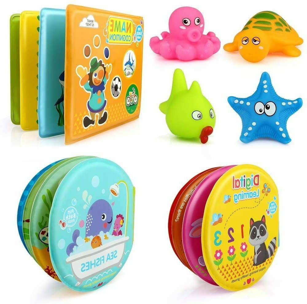 Baby Bath Toys 3 Pack Bath Books for Toddlers Infants Childr