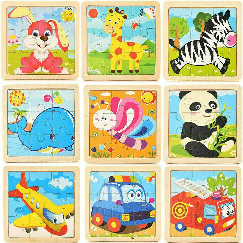 Baby Kids Toys 3D Wooden Puzzle Educational Toy