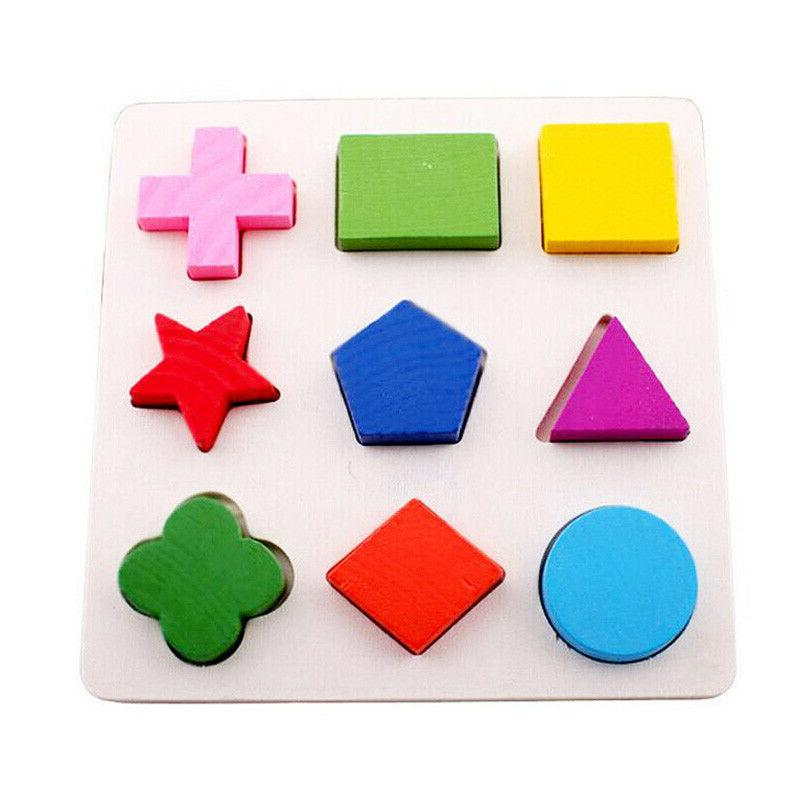 Children Wood Puzzle Classification Learning Toys