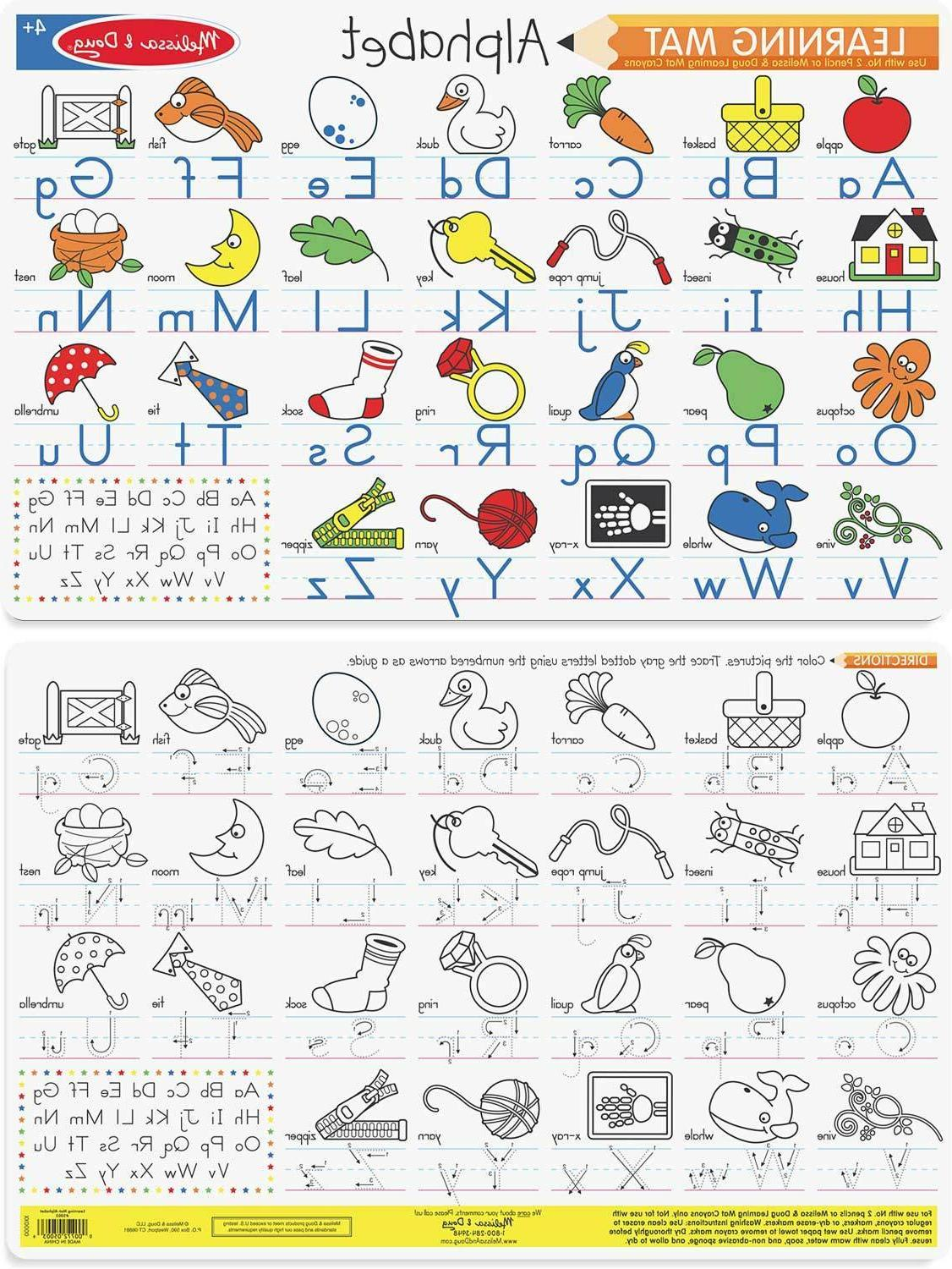 color a mat learning placemats alphabet