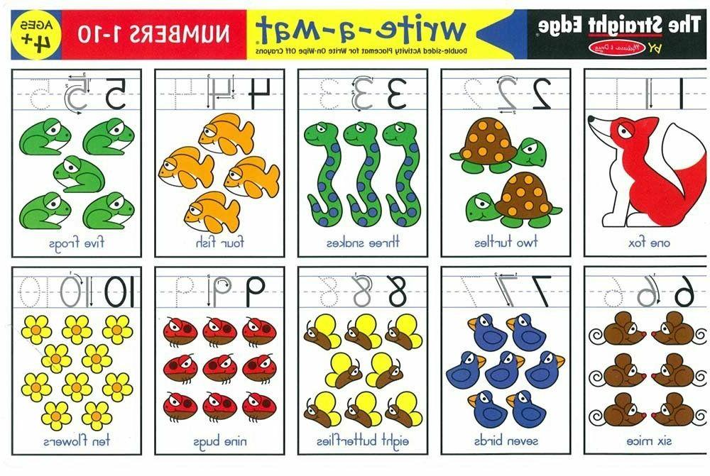 color a mat learning placemats numbers 1