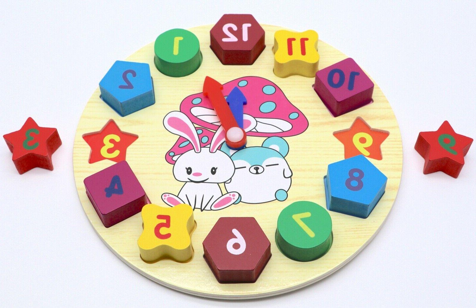 Educational Clock Puzzle Toy for