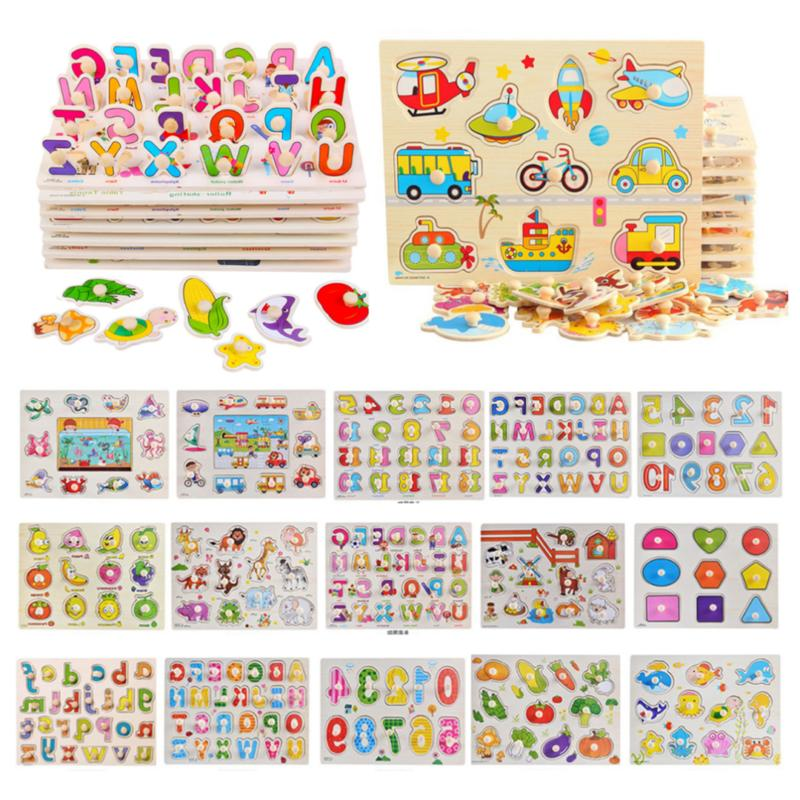 Kids Wooden Puzzle Jigsaw Toys Gifts