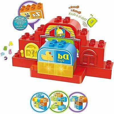 learning letters abc building brick 15 piece