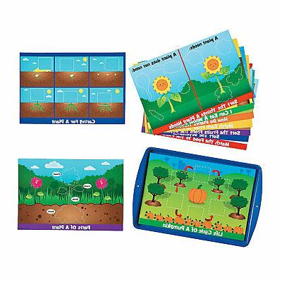 learning plants magnetic activity set educational 1