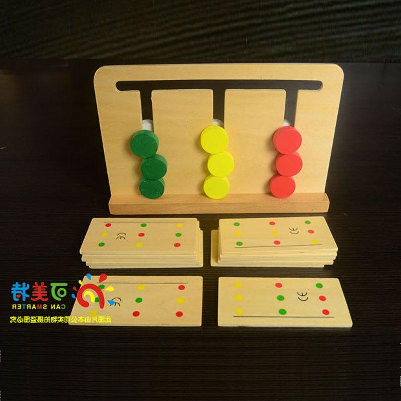 Montessori wooden toy learning sorting move