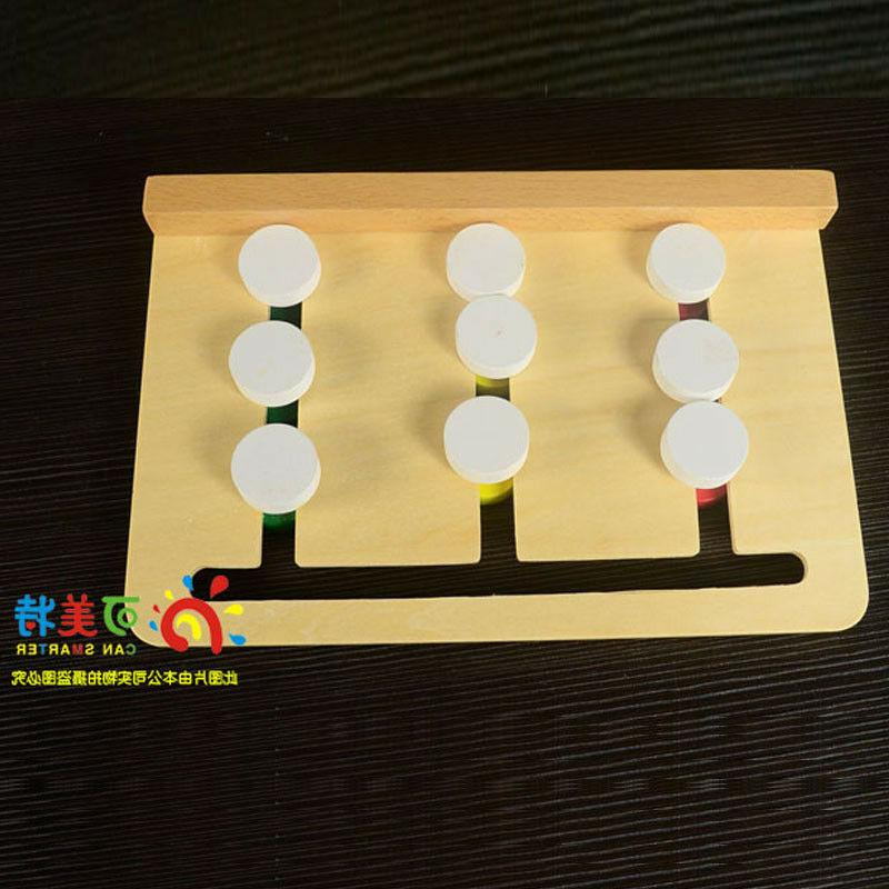 Montessori learning 3 sorting array move match card