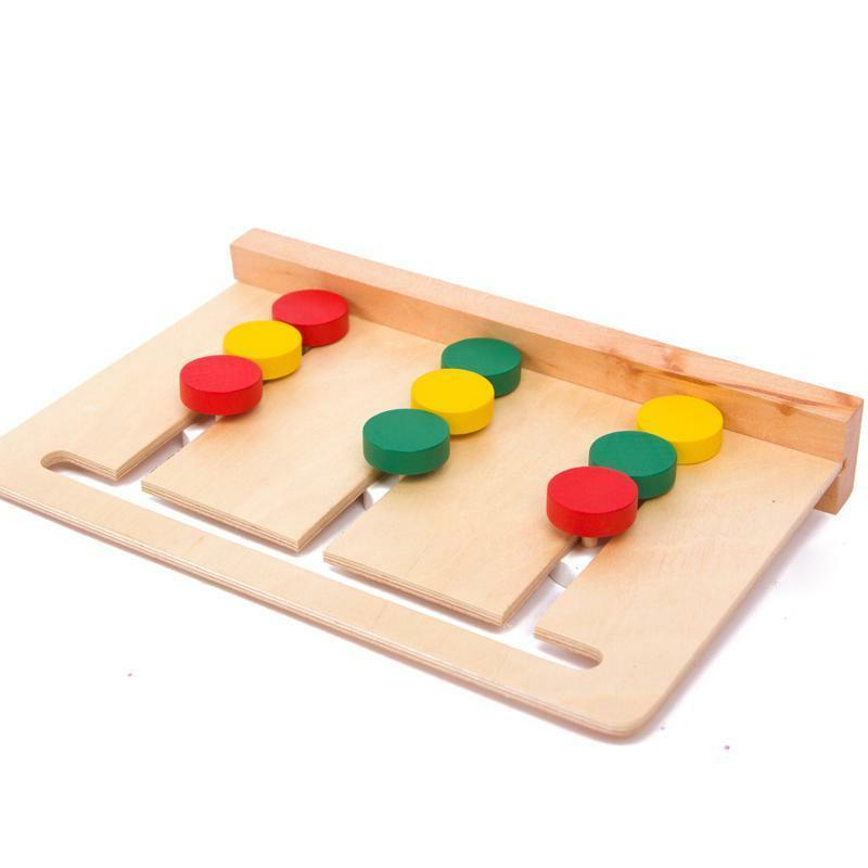 Montessori wooden learning 3 sorting array card