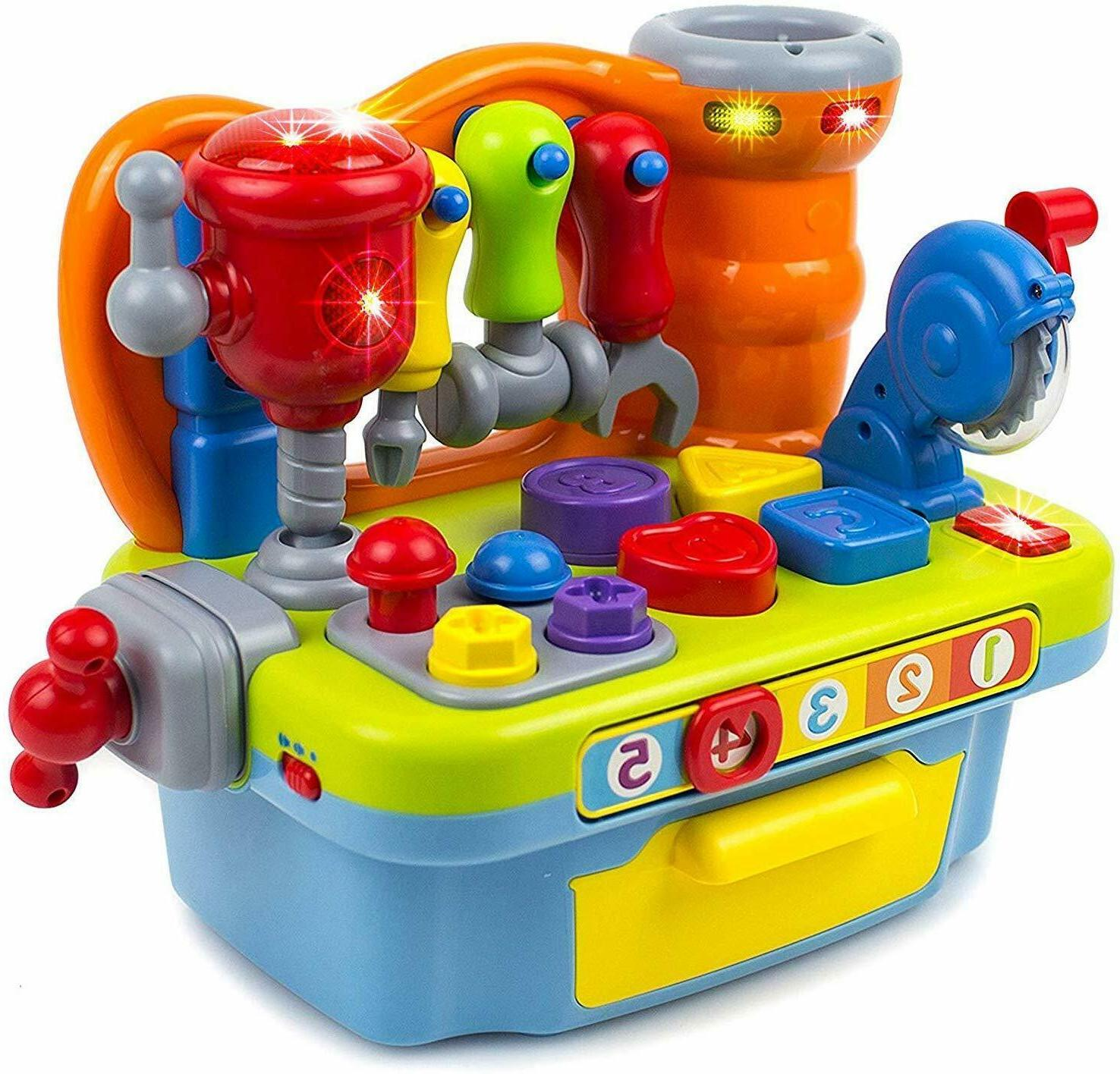 musical learning workbench toy