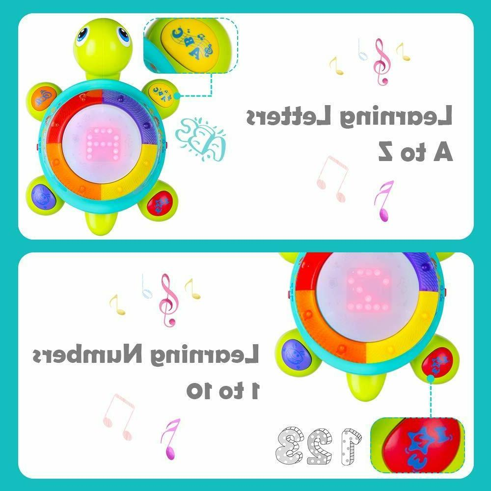 Musical Turtle Toy, English & Spanish Learning, Electronic T