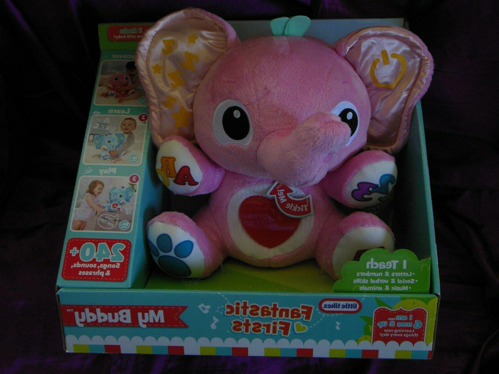my buddy pink elephant learning toy