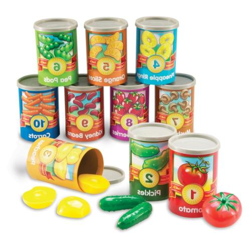 Learning Resources One To Ten Counting Cans Toy Set, 65 Piec
