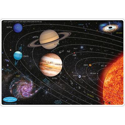 solar system learning mat 2 sided