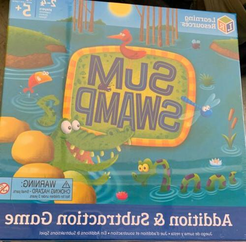 sum swamp addition subtraction game ages 4