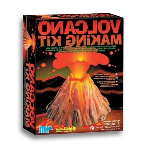 volcano making kit science project learning kids