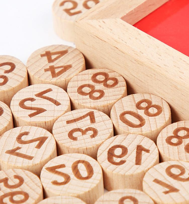 Wooden Alphabet & Number Puzzle Early Learning 2