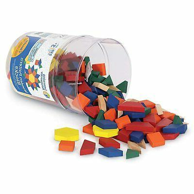 wooden pattern blocks early math concepts set