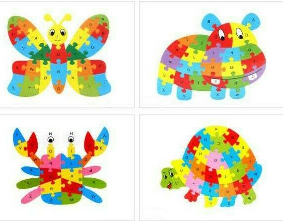 Wooden Puzzle ABC Learning Fun Fish
