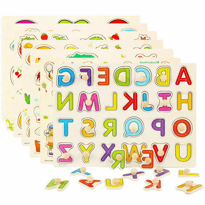 Kids Alphabet learning educational toy ABC Numbers 123 woode