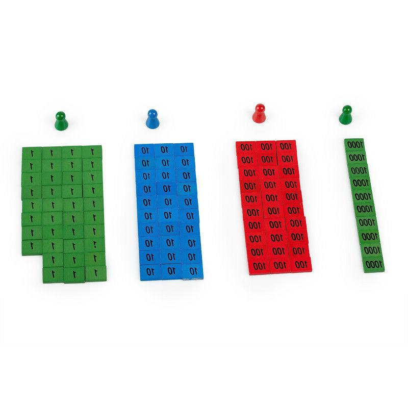 wooden montessori learning math wood puzzle