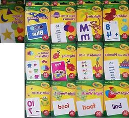 CRAYOLA LEARNING FLASH CARDS Age 3+, 36 Cards/Pk, Select: Le