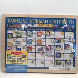 MELISSA & DOUG MY MONTHLY CALENDAR MAGNETIC CHILD LEARNING O