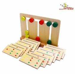 Montessori wooden toy baby learning 3 color game sorting arr