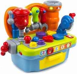 Toy Workshop Playset for Kids with Sounds & Lights Engineeri