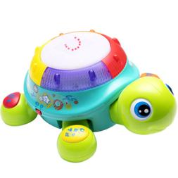 Musical Turtle Toy, English & Spanish Learning,babies toys,g