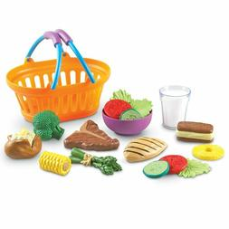 Learning Resources New Sprouts Dinner Foods Basket, Pretend