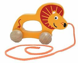 Hape Push and Pull Woosen Lion Baby Learning Toy